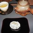最後に和菓子と緑茶が出てきました。