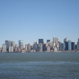 リバティー島から見るマンハッタン